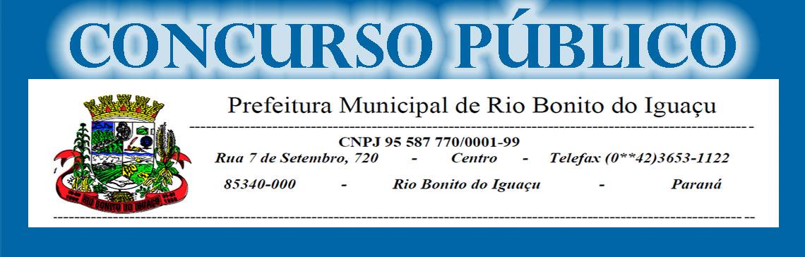 Prefeitura Municipal de Rio Bonito do Iguaçu -...